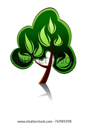 Tree icon for ecology or environment design or template. Vector version also available in gallery