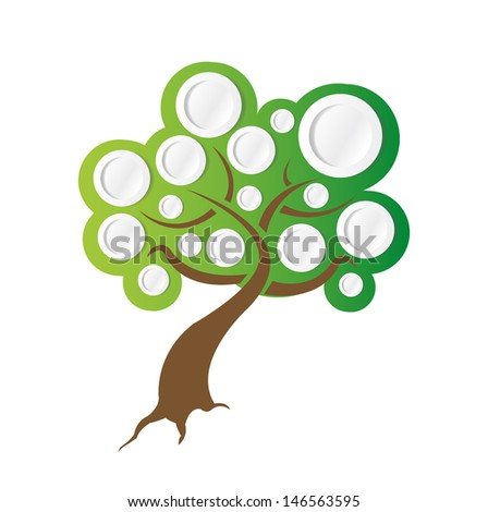 tree illustration ready for info graphics. illustration design over white - stock photo