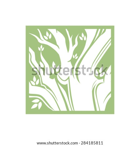 Tree logo template. 