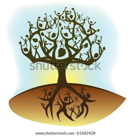 tree of life concept illustration - stock photo