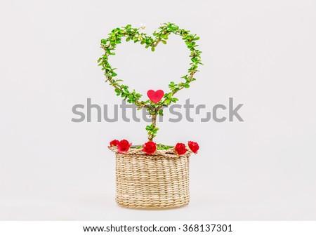 Tree of love. valentine day love beautiful. heart tree. - stock photo