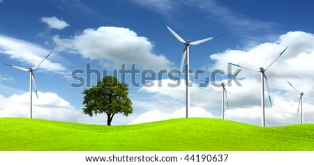 Tree on wind farm