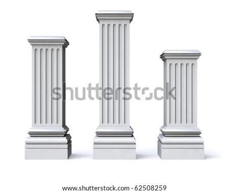 Tree pedestals - stock photo