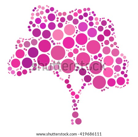 tree shape design by color point