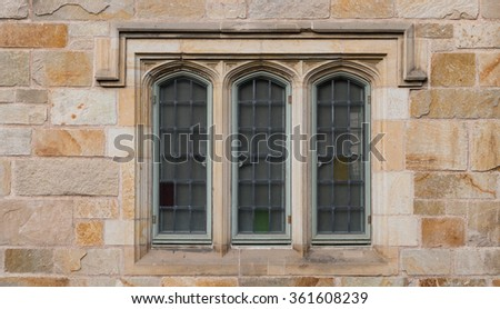 Tree windows in  Neo-Gothic
