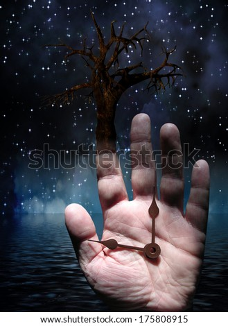 Tree with Hand - stock photo
