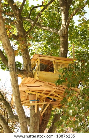 Treehouse in Paris cente, France - stock photo