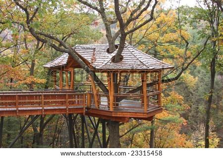 Treehouse Nay Aug Park - stock photo