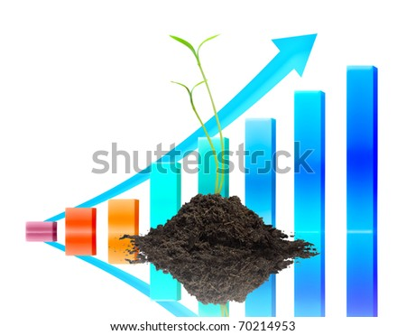 Trees and graphs business. - stock photo