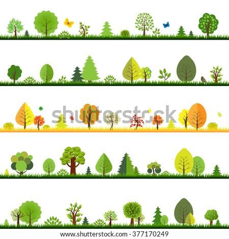 Trees Borders  - stock photo