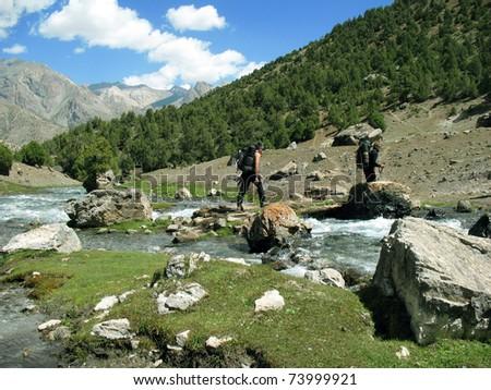 Trekking - stock photo