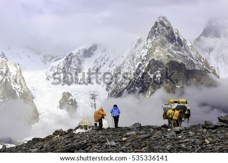 Trekking Adventure in the Karakorum Mountains, Baltoro Glacier,