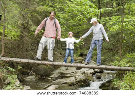 Trekking - family on trek