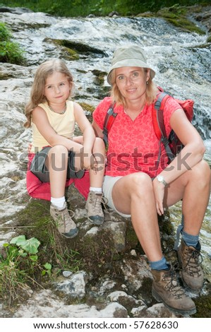 Trekking with mother