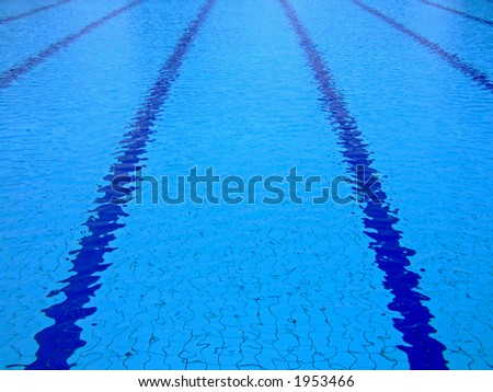 trembling surface of an olympic size swimming pool stock photo - Olympic Swimming Pool Underwater