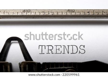 Trends  - stock photo