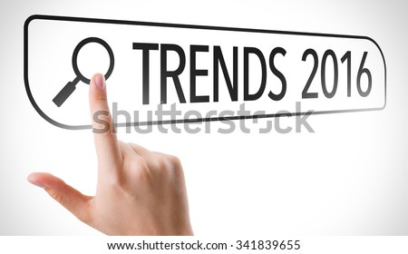 Trends 2016 written in search bar on virtual screen - stock photo