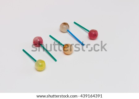 Trendy Candy on white background