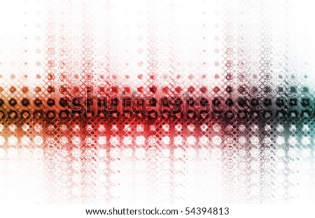 Trendy Colorful Digital as a Creative Abstract - stock photo