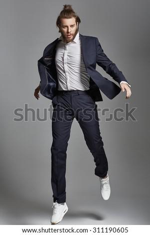 Trendy elegant guy - stock photo