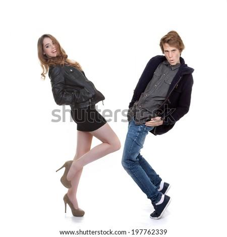 trendy fashion teens - stock photo
