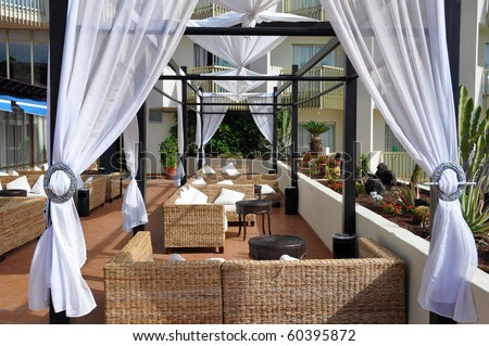 Trendy lounge - stock photo