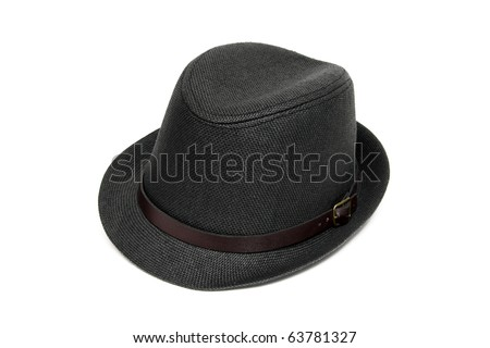 trendy stylish men hat - stock photo