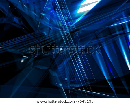 Trendy techno background with abstract shapes and lots of transparency.. - stock photo