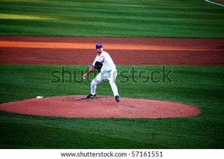 TRENTON, NJ - MAY 23: Roger Clemens pitches in a rehab stint for the Trenton Thunder May 23, 2007 in Trenton, NJ