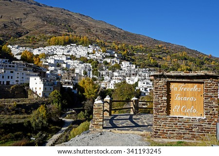 Trevelez town in Sierra Nevada, Granada - stock photo