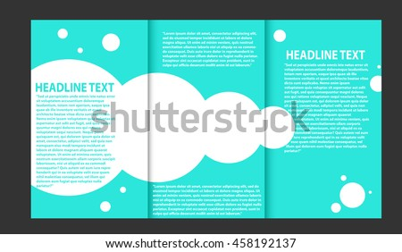 trifold brochure catalog vector concept template stock, Presentation templates