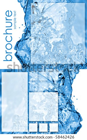 Water brochure stock photos images pictures shutterstock for Water brochure template