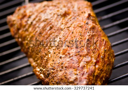 Tri-tip Steak on the Grill - stock photo