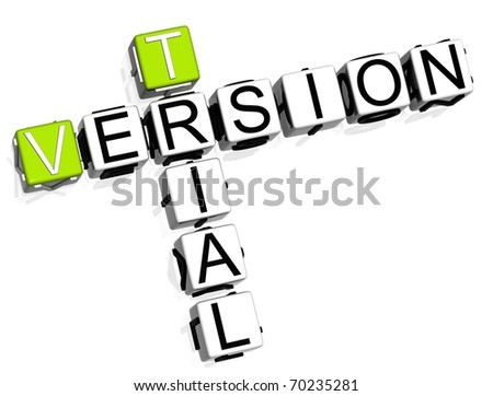 Trial Version Crossword - stock photo
