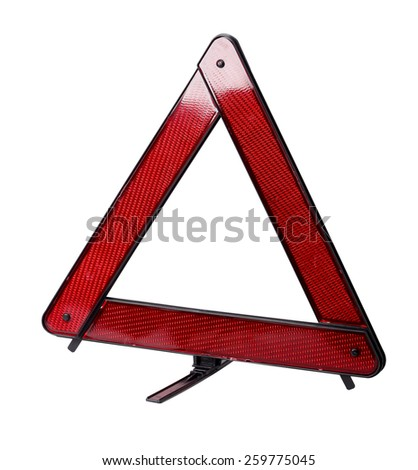 triangle car - stock photo