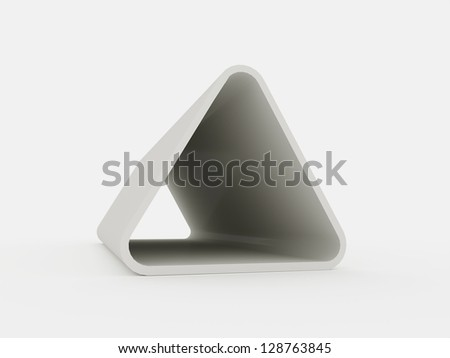 Triangle element isolated on white background - stock photo
