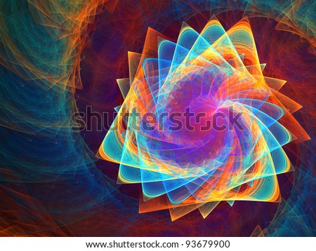 Triangle galactic rainbow - abstract pattern for backgrounds. Fractals. - stock photo