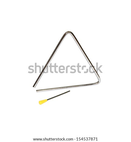 Triangle on white background  - stock photo