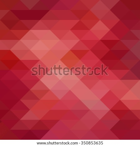 triangle pattern background with random abstract background design and texture, red pink and white triangles layers - stock photo