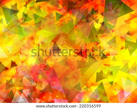triangles abstract background illustration - stock photo