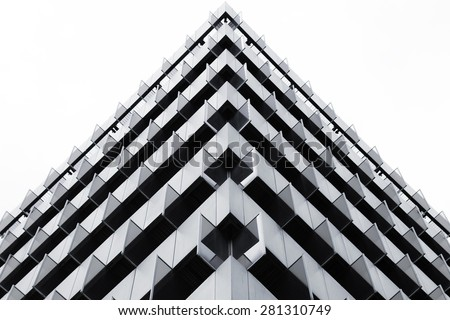 Triangles in a building - stock photo