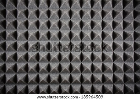 Triangular Acoustic Foam Rubber - stock photo