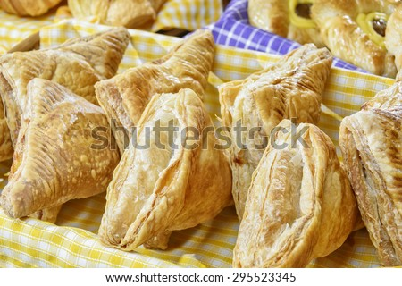 Triangular Crunchy Bread - stock photo