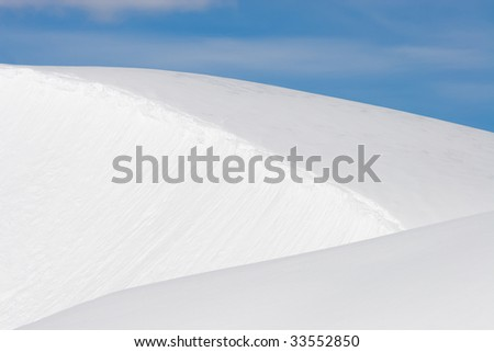 triangular layers of pristine snow
