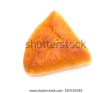 triangular pies on a white background