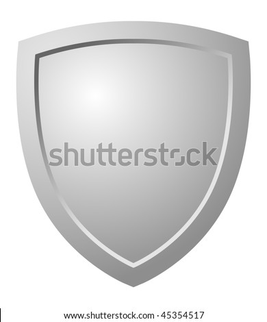 Triangular Shield - stock photo