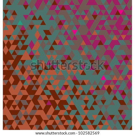 TRIANGULATION MIXED COLD COLOURS - stock photo