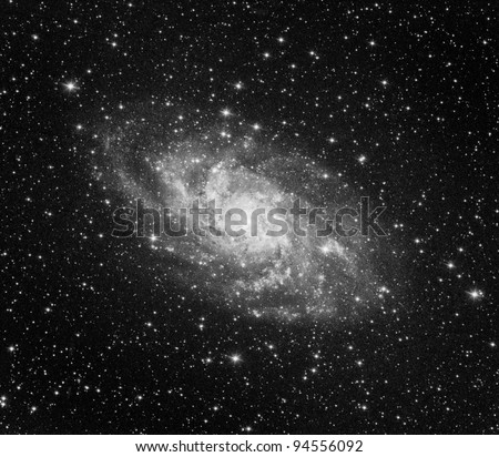Triangulum galaxy - stock photo