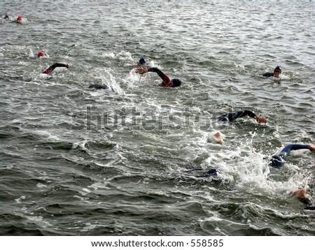 Triathlon Swim - stock photo