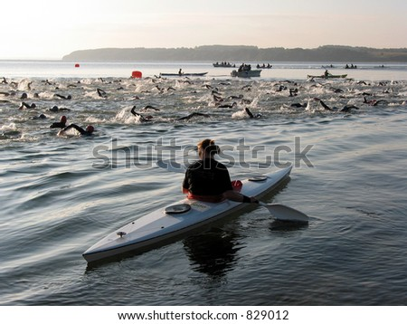 Triathlon Swim - stock photo